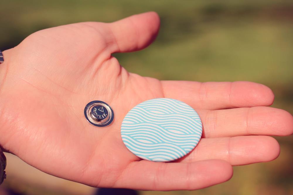 spille con magnete per vestiti rotonde
