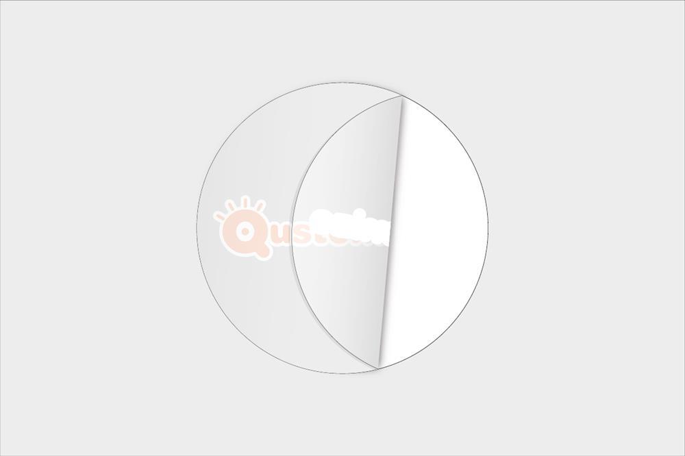 Adesivi in vinile trasparenti rotondi con tinte opache