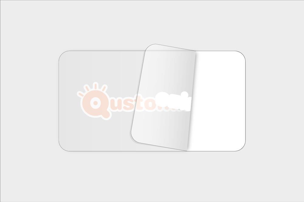 adhesivos de vinilo transparente rectangulares con tintas opacas
