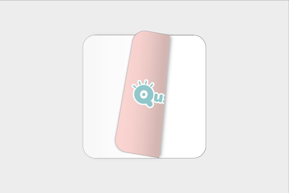 Adhesivos de vinilo blanco para pegar por dentro cuadrados