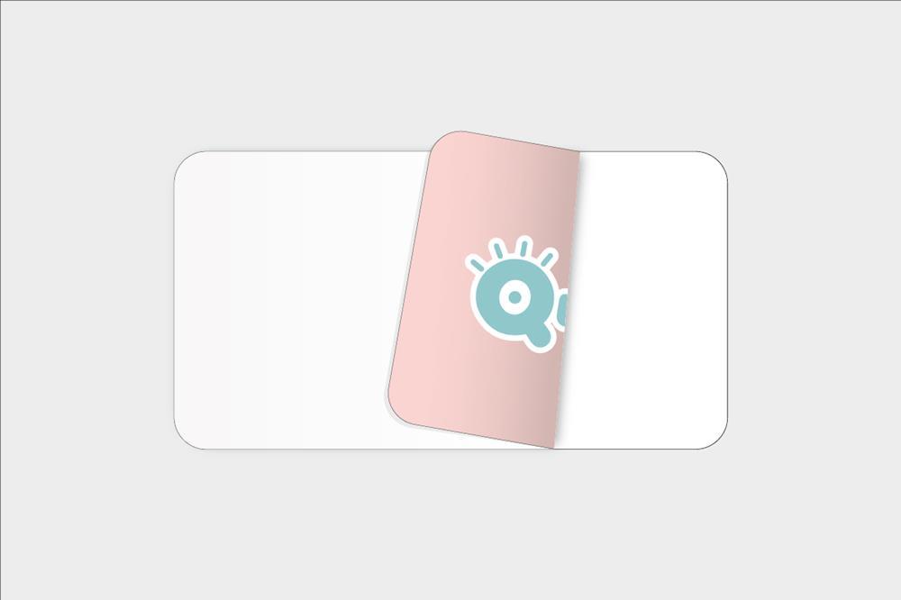 Adhesivos de vinilo blanco para pegar por dentro rectangulares