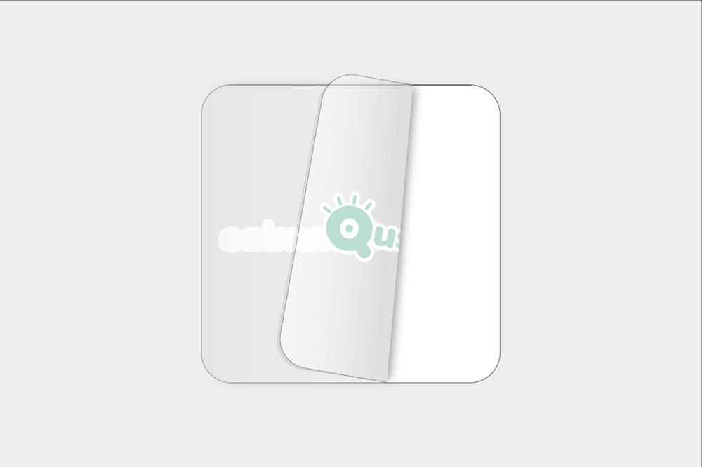 Adhesivos de vinilo transparente para pegar por dentro cuadrados