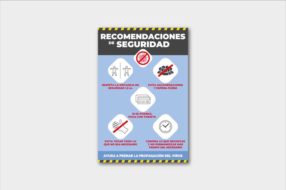 Vinilos adhesivos con recomendaciones de seguridad