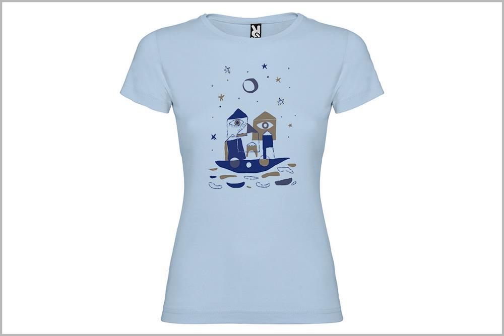 "Camiseta de mujer ""Barco"" de Laura GBécares"