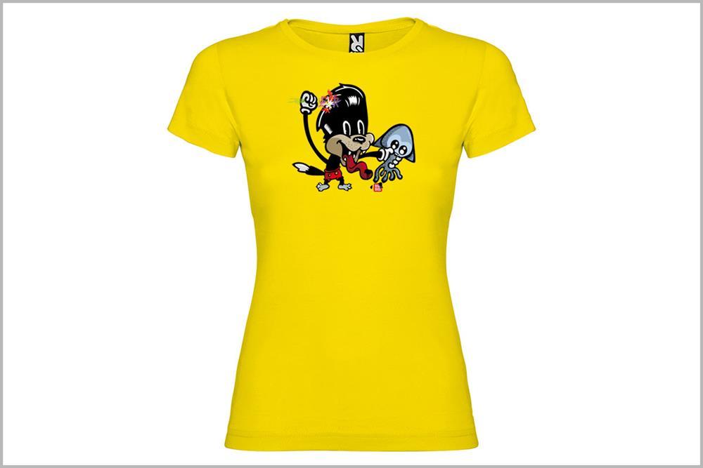 """Camiseta de mujer """"El gato con potas"""", de Pablo Jeje"""