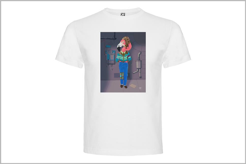 """Camiseta unisex """"Estoy flamenco"""" con fondo, de Pedro García"""