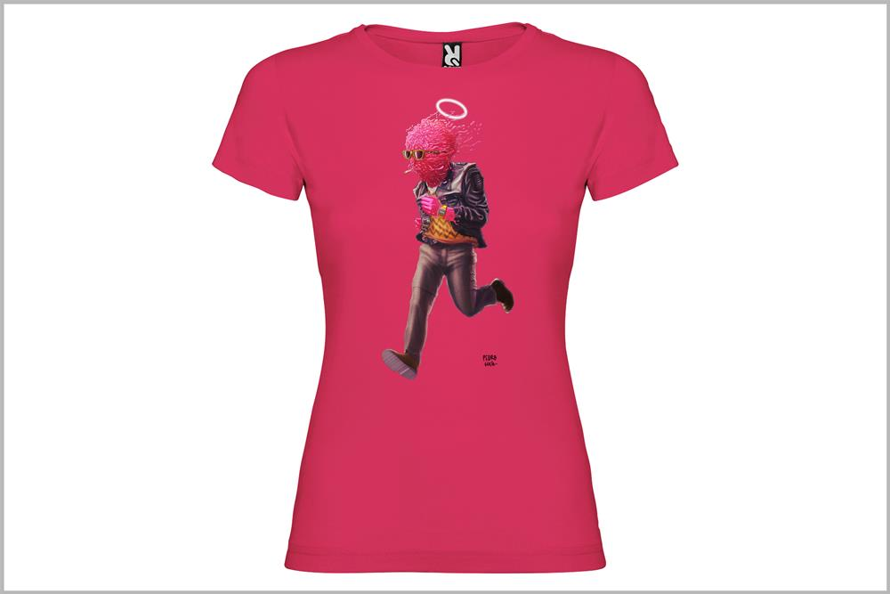 """Camiseta de mujer """"El hombre chicle"""" de Pedro García"""