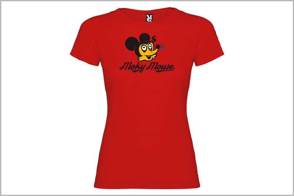 """Camiseta de mujer """"Moky Mouse"""" de Óscar Rubio"""