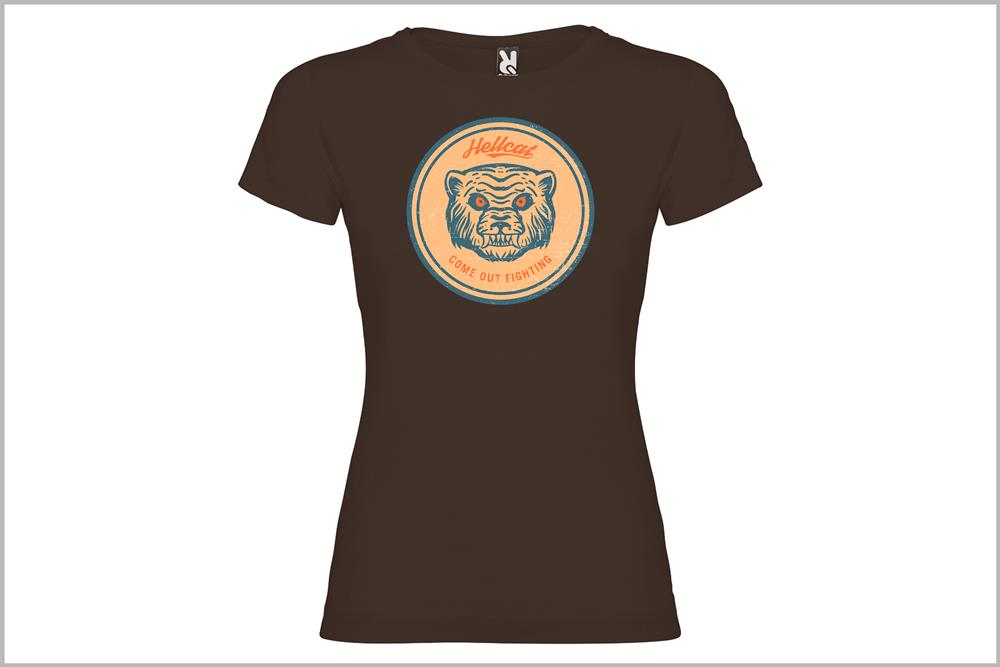 "Camiseta de mujer ""Hellcat mod.2"", de Óscar Rubio"