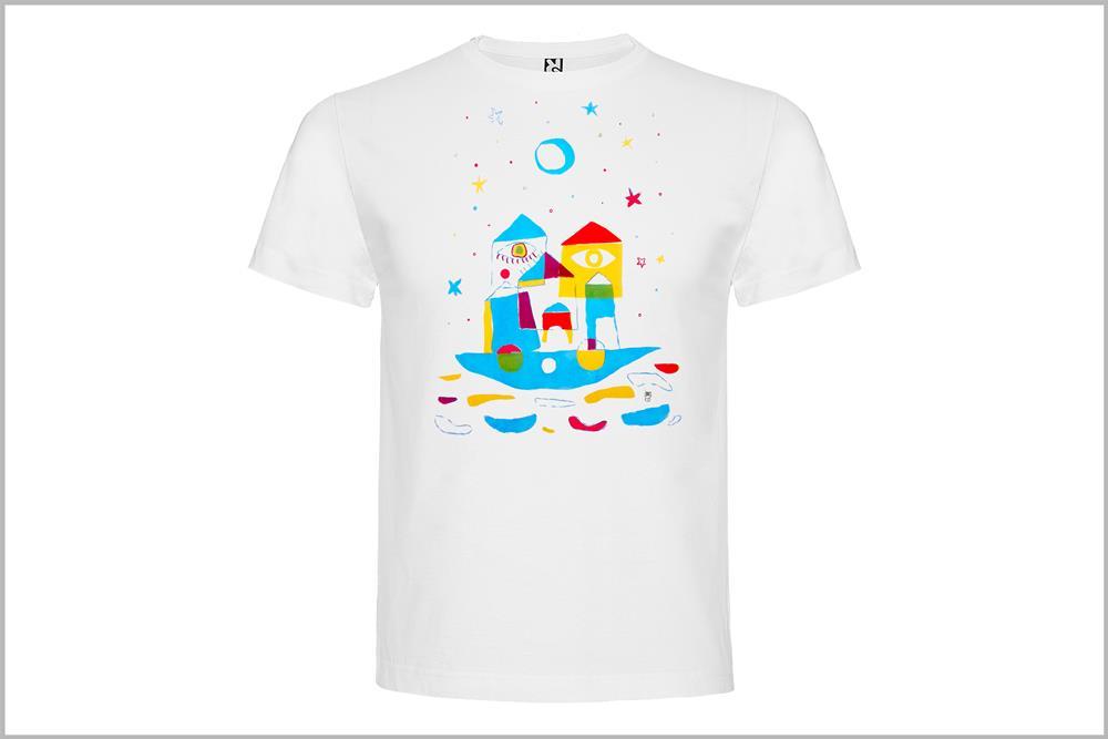 """Camiseta unisex """"Barco Arco Iris"""" de Laura GBécares"""