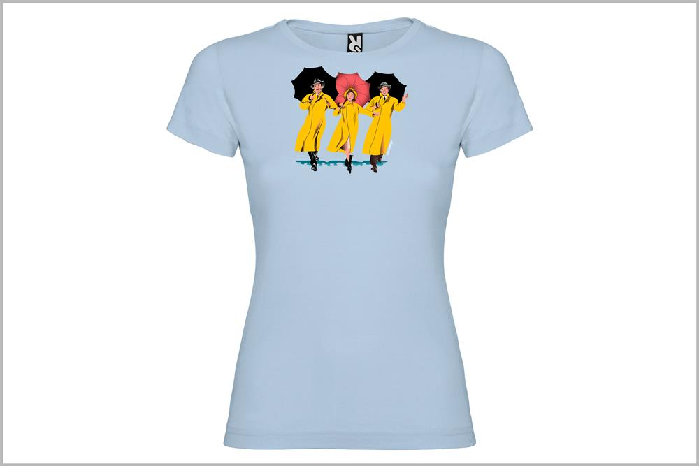 "Camiseta de mujer ""Singing in the rain"", de Juan Barrero"