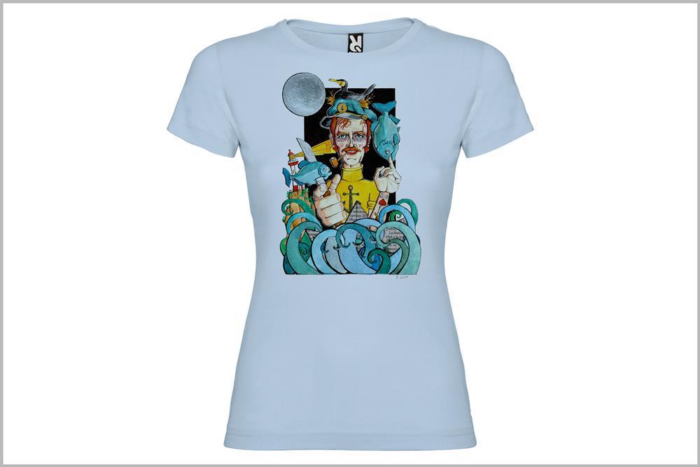 """Camiseta de mujer """"Marinero"""", de Daniel Buitrón"""