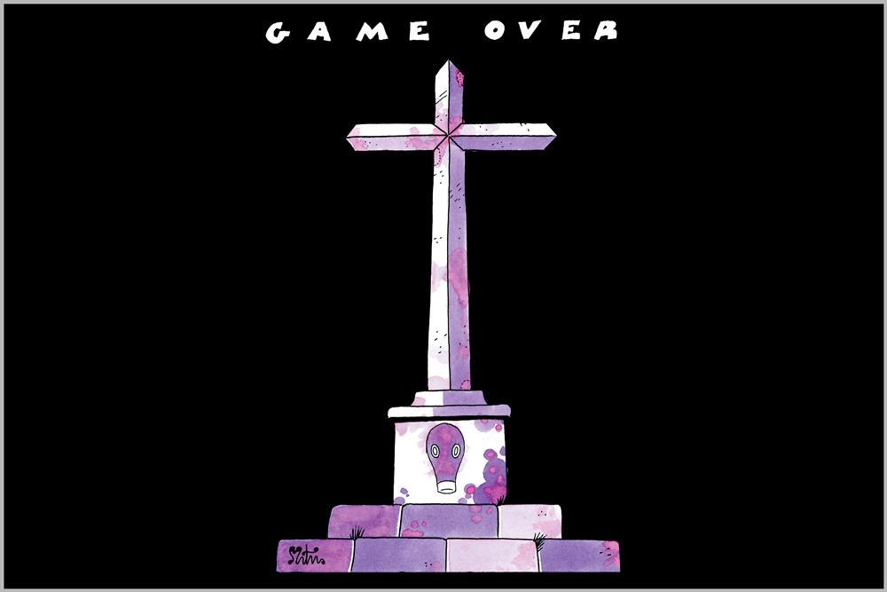 "Camiseta unisex ""Game Over"", de Miguel Ángel Martín"