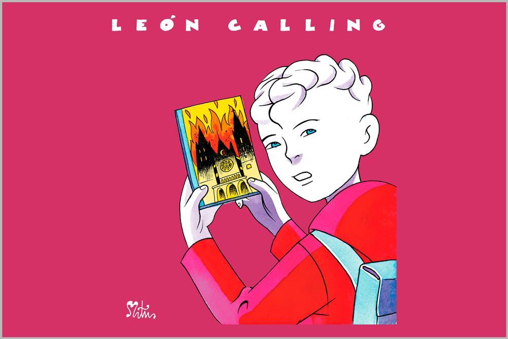 """Camiseta unisex """"León Calling"""", de Miguel Ángel Martín"""