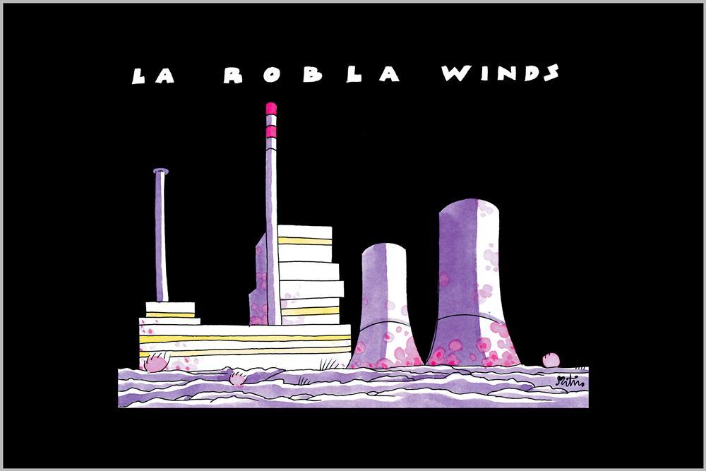 """Camiseta de mujer """"La Robla Winds"""", de Miguel Ángel Martín"""