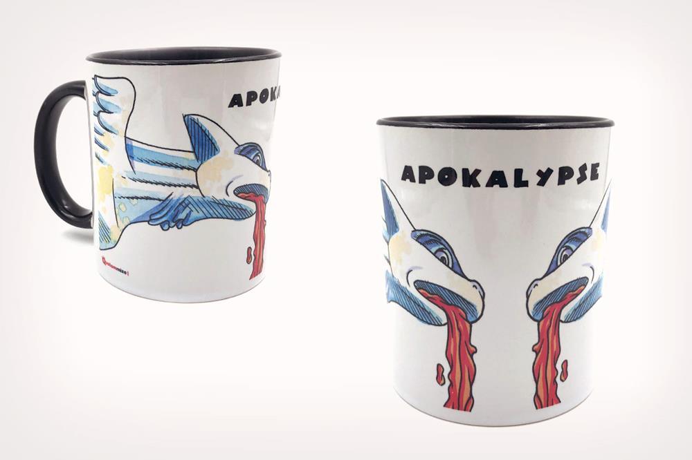 """Taza con diseño """"Apokalypse"""", de Miguel Ángel Martín"""