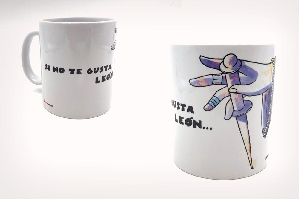 """Taza con diseño """"Guzmán"""", de Miguel Ángel Martín"""