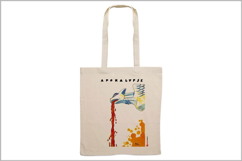 """Tote-bag con diseño """"Apokalypse"""", de Miguel Ángel Martín"""