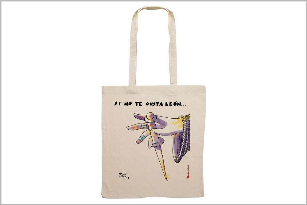"""Tote-bag con diseño """"Guzmán"""", de Miguel Ángel Martín"""