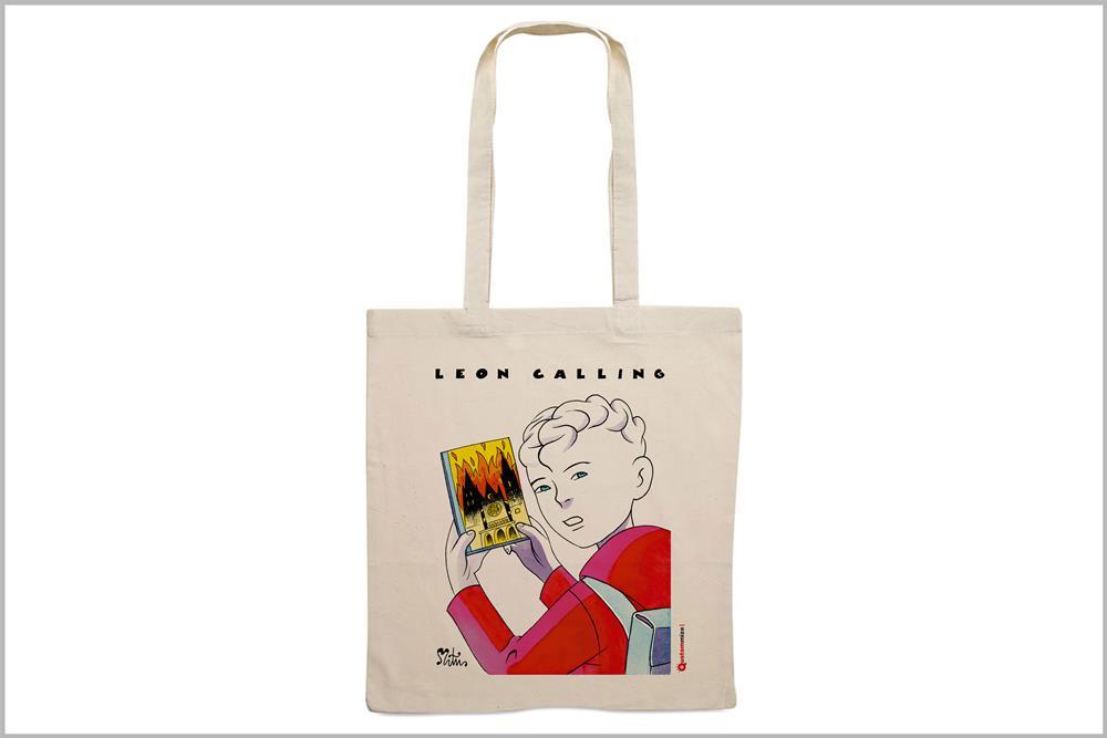 """Tote-bag con diseño """"León Calling"""", de Miguel Ángel Martín"""