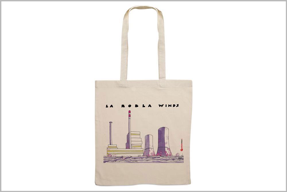 """Tote-bag con diseño """"La Robla Winds"""", de Miguel Ángel Martín"""