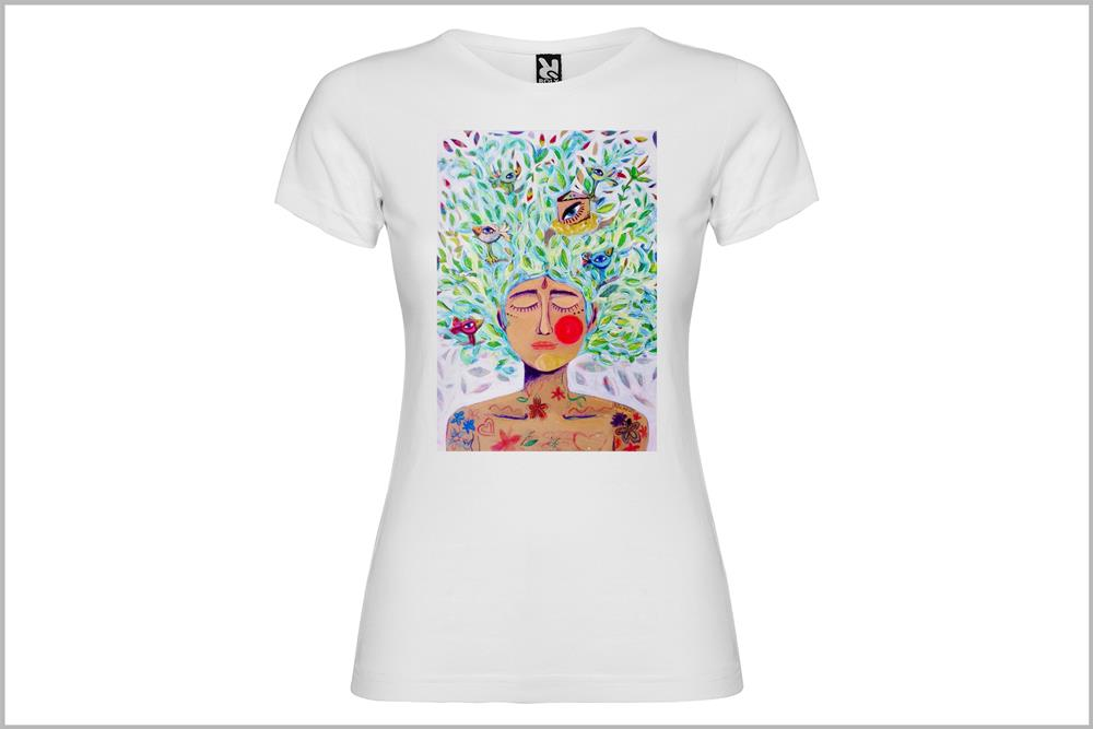 "Camiseta de mujer ""Ombrosa"" de Laura GBécares"