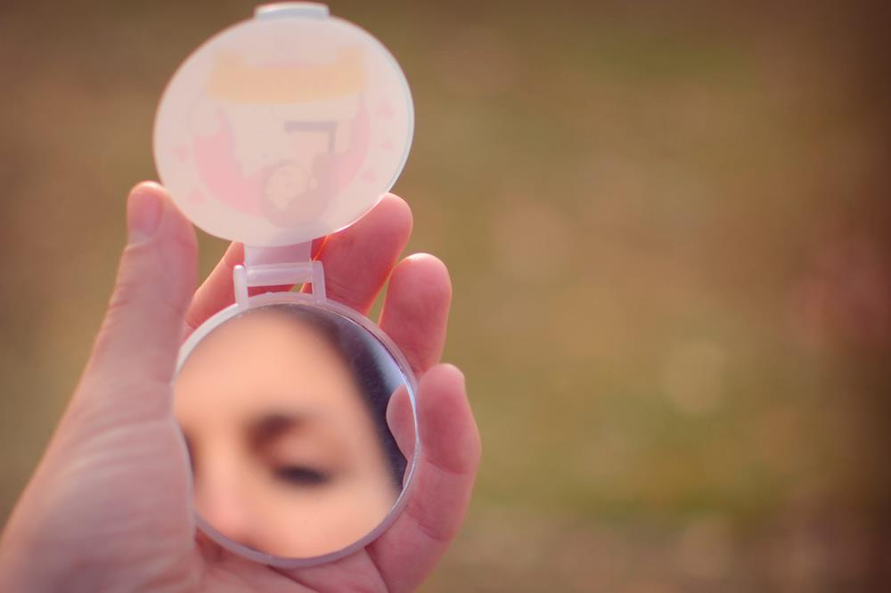 espejos de bolsillo con tapa 'plastik'