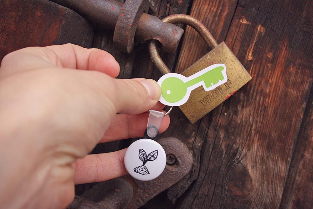 porte-clés ronds avec anneau
