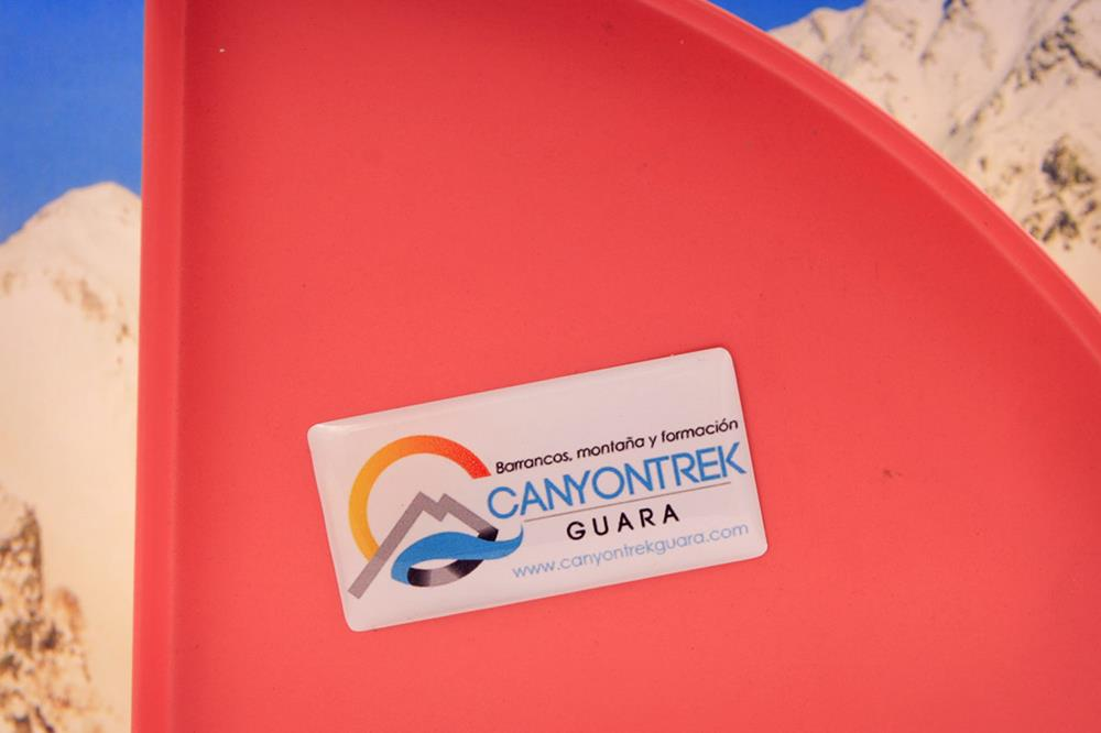etiquetas de resina rectangulares