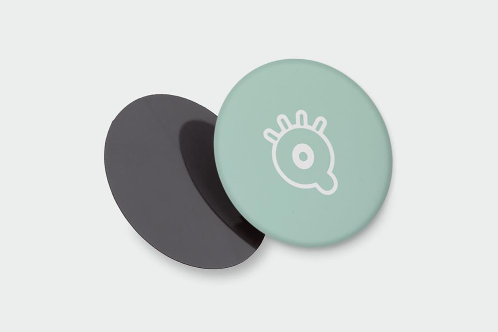 Magnets en résine ronds