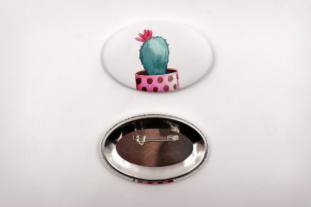 badges à épingle ovales
