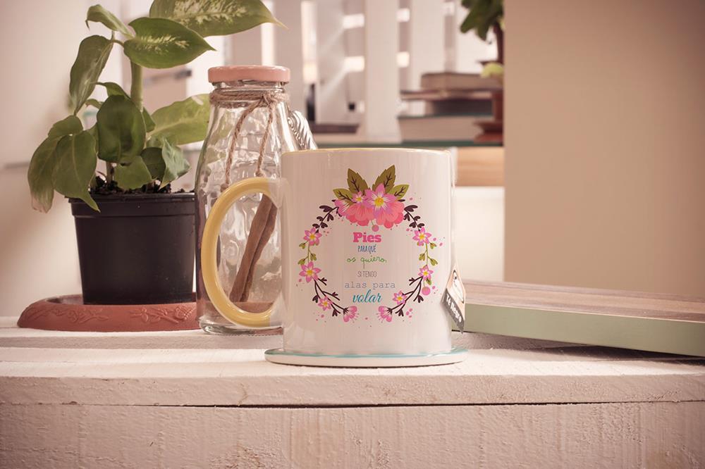 tazas cerámicas brillo