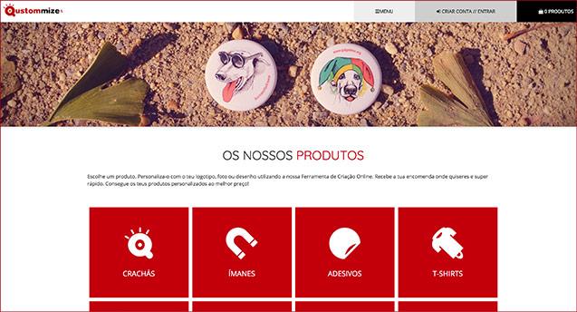 Imagen de A tua nova página web de produtos personalizados