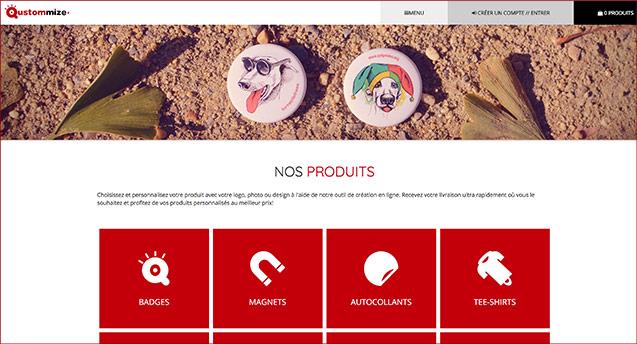 Imagen de Votre nouveau site de produits personnalisés
